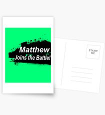 Matthew Joins the Battle! Postcards