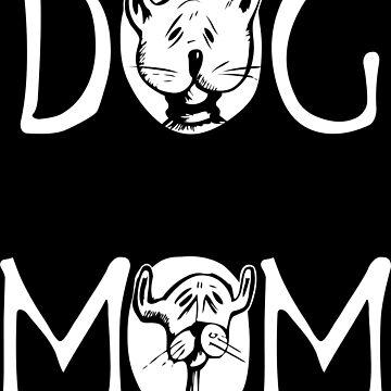 DOG white design Women's T Shirt by jonres