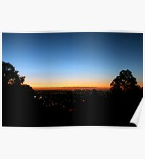 Sunset From Perth Hills Poster