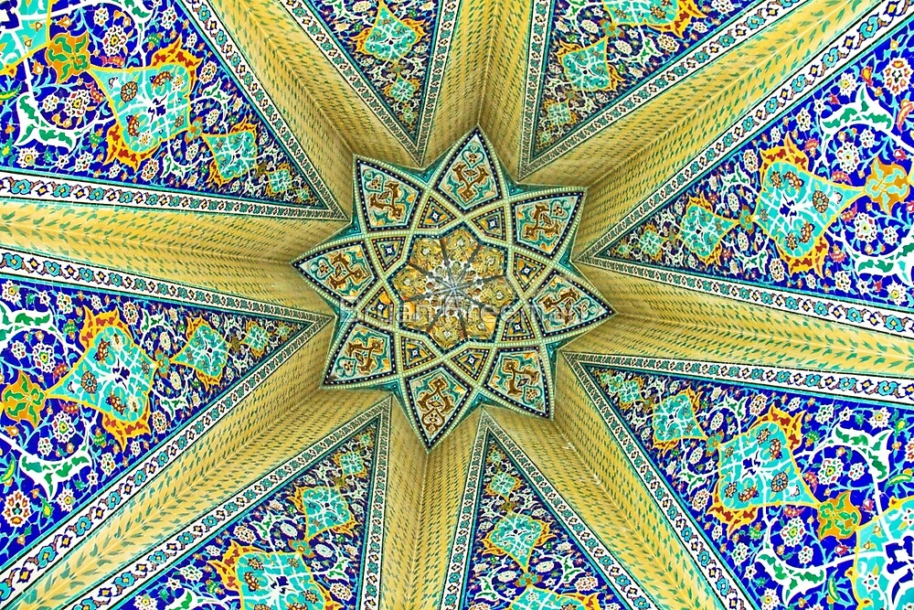 Inside the Tomb of Baba Taher - Hamadan - Iran by Bryan Freeman