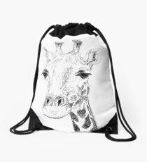 Giraffe (Pen Drawing) Drawstring Bag