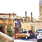 Bracciano: cars parked under the castle by Giuseppe Cocco