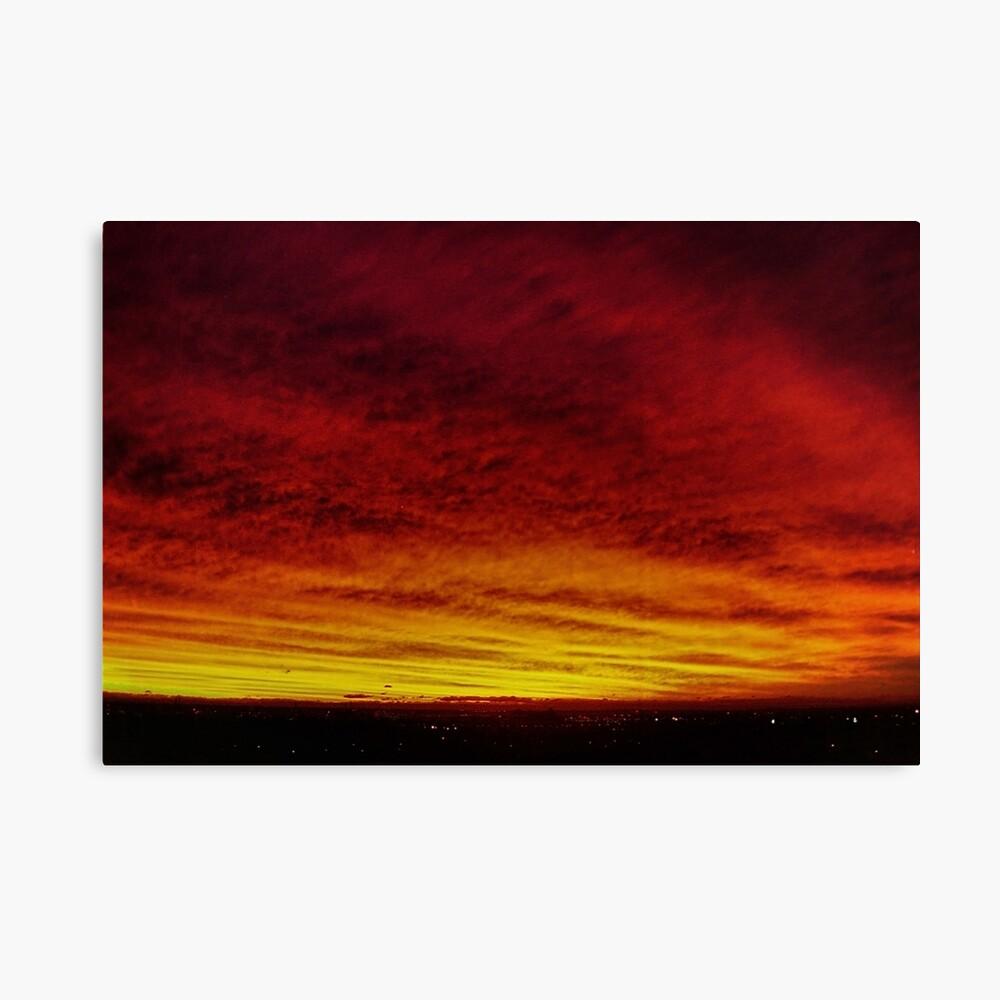 Fire In The Sky - Sydney - Australia Canvas Print