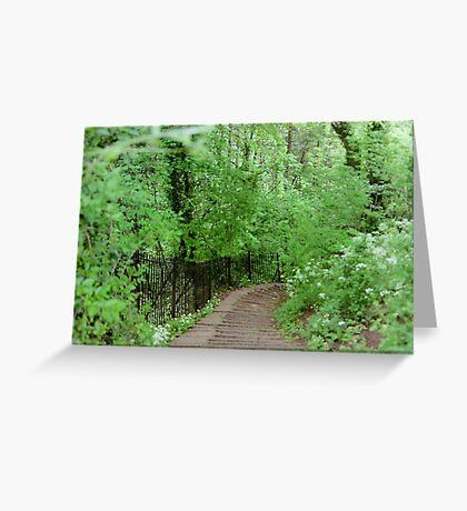 The Path in Bath - England Greeting Card