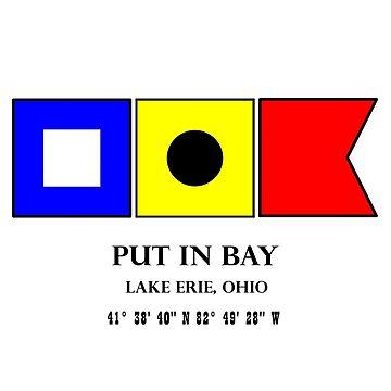 Put in Bay Ohio Nautical Flag Art by MyHandmadeSigns