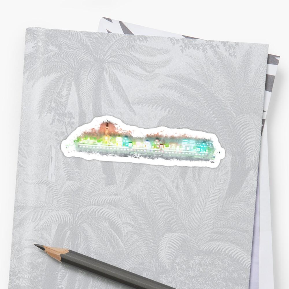 Coad community glowing Art Stickers