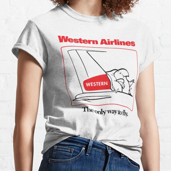 Western Airlines The Only Way to Fly Cartoon Bird Mascot T-Shirt - White Version Classic T-Shirt