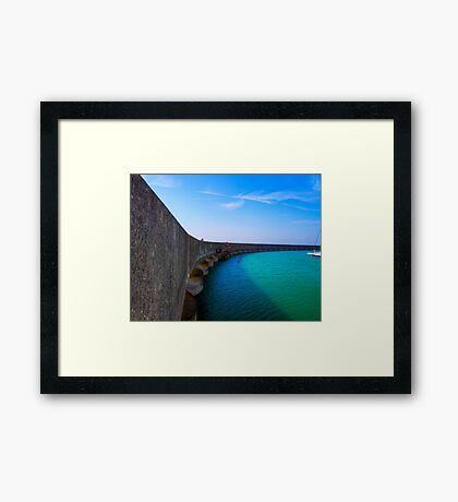 The Vanishing Marina - Brighton - England Framed Print