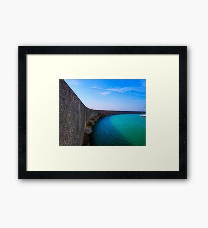 The Vanishing Marina - Brighton - England Framed Print