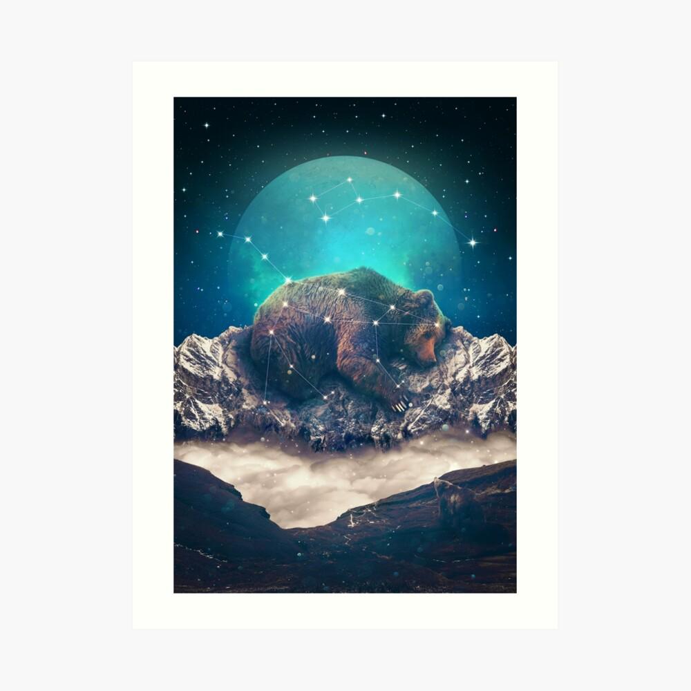 Unter den Sternen   Ursa Major Kunstdruck