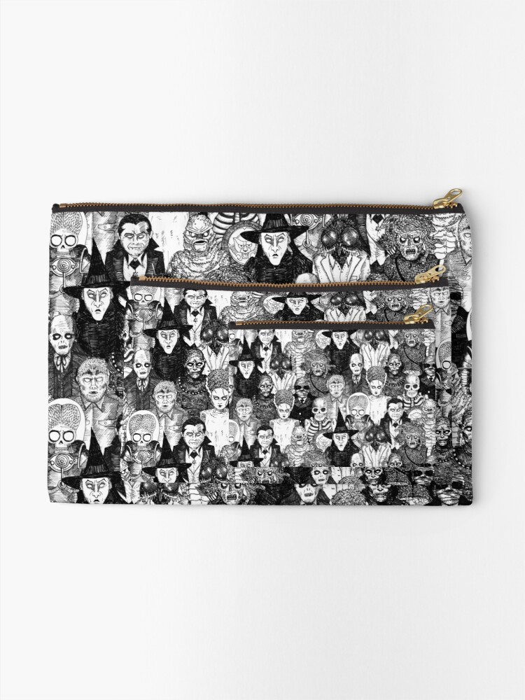 Alternate view of Horror Monsters Zipper Pouch