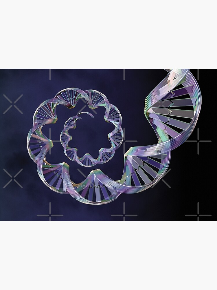 Origins: Double-Helix Blue Spiral DNA  by multiform