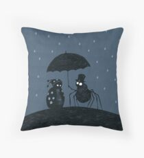 Bugs in the Rain Throw Pillow
