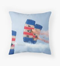 The RAF Falcons Freefall Parachute Display Team 1 Throw Pillow