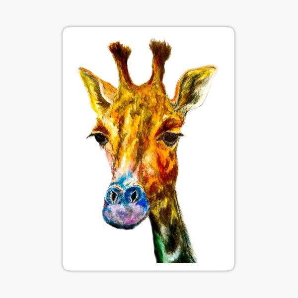 Technicolour Giraffe Sticker