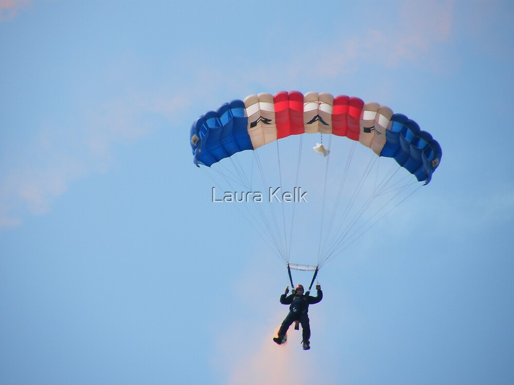 The RAF Falcons Freefall Parachute Display Team 3 by Laura Kelk