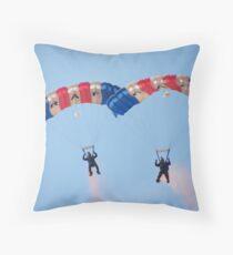 The RAF Falcons Freefall Parachute Display Team 4 Throw Pillow