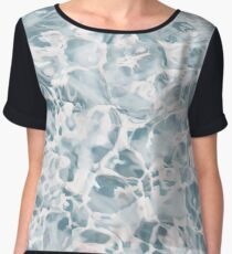 Marble Water Nature Abstract Muted Chiffon Top