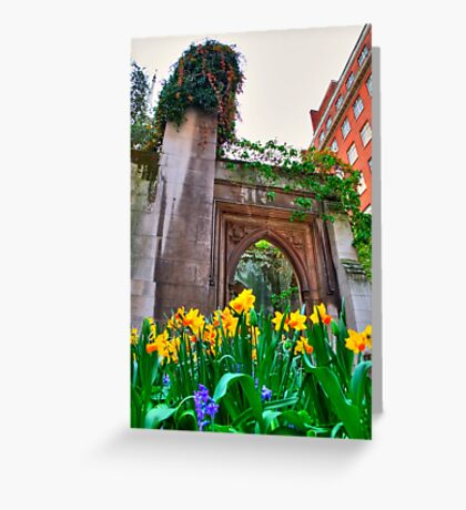 St Dunstan in the East & The Deadly Daffodils - London Greeting Card