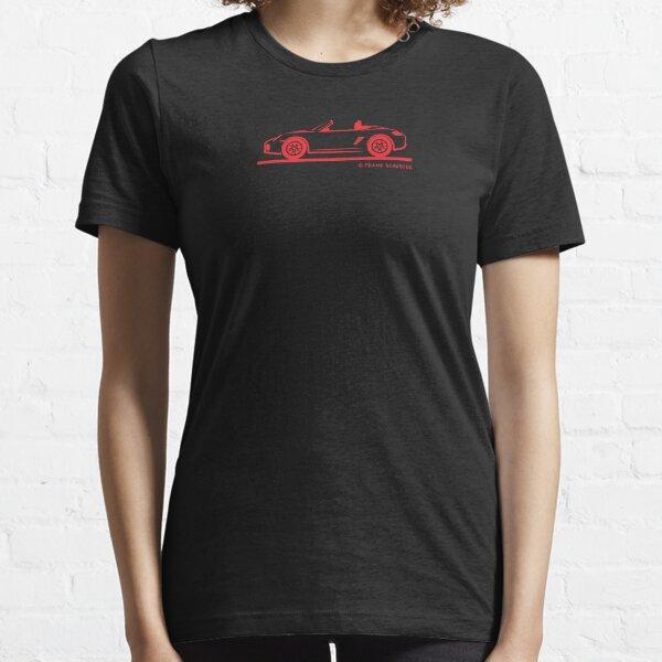 987 Porsche Boxster 987 Red Top Down Essential T-Shirt