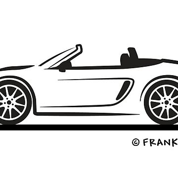 981 Porsche Boxster 981 Black for Light Shirts by azoid