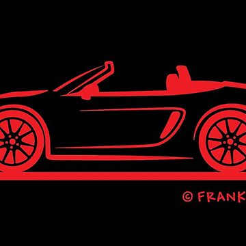 Porsche 981 Boxster Red Top Down by azoid
