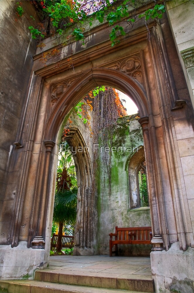 St Dunstan in the East - London by Bryan Freeman
