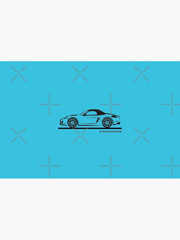 Porsche 981 Boxster Top Up Black   Laptop Skin