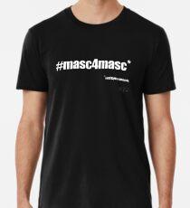 #masc4masc white text - Kylie Men's Premium T-Shirt
