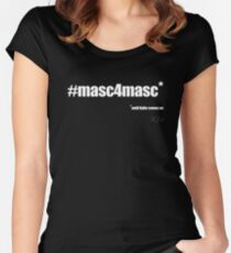#masc4masc white text - Kylie Fitted Scoop T-Shirt