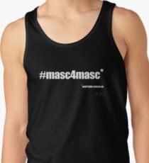 #masc4masc white text - Kylie Tank Top