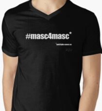#masc4masc white text - Kylie Men's V-Neck T-Shirt