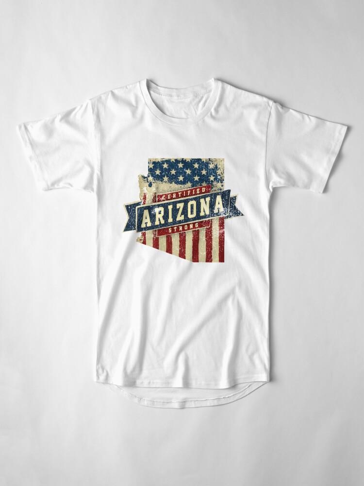 Alternative Ansicht von Arizona Starke USA Flag State Home Certified Großes Geschenk Awesome Stolze Fans Longshirt