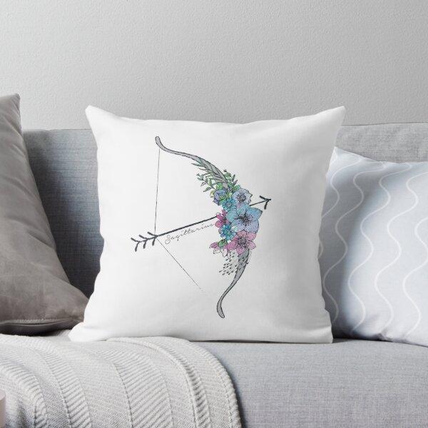 Sagittarius Arrow Throw Pillow