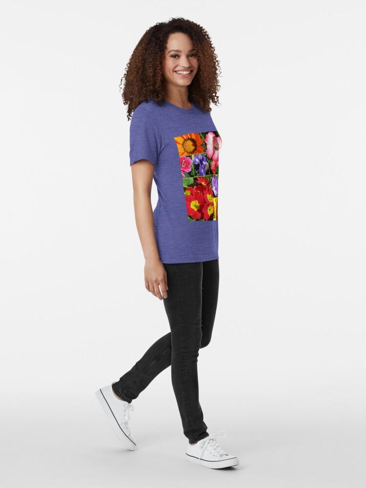 Alternative Ansicht von Sunkissed Blumen-Collage Vintage T-Shirt