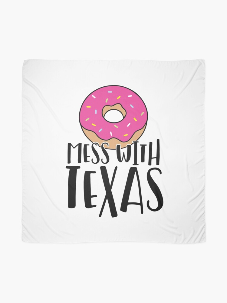 Alternate view of Donut Mess with Texas Scarf