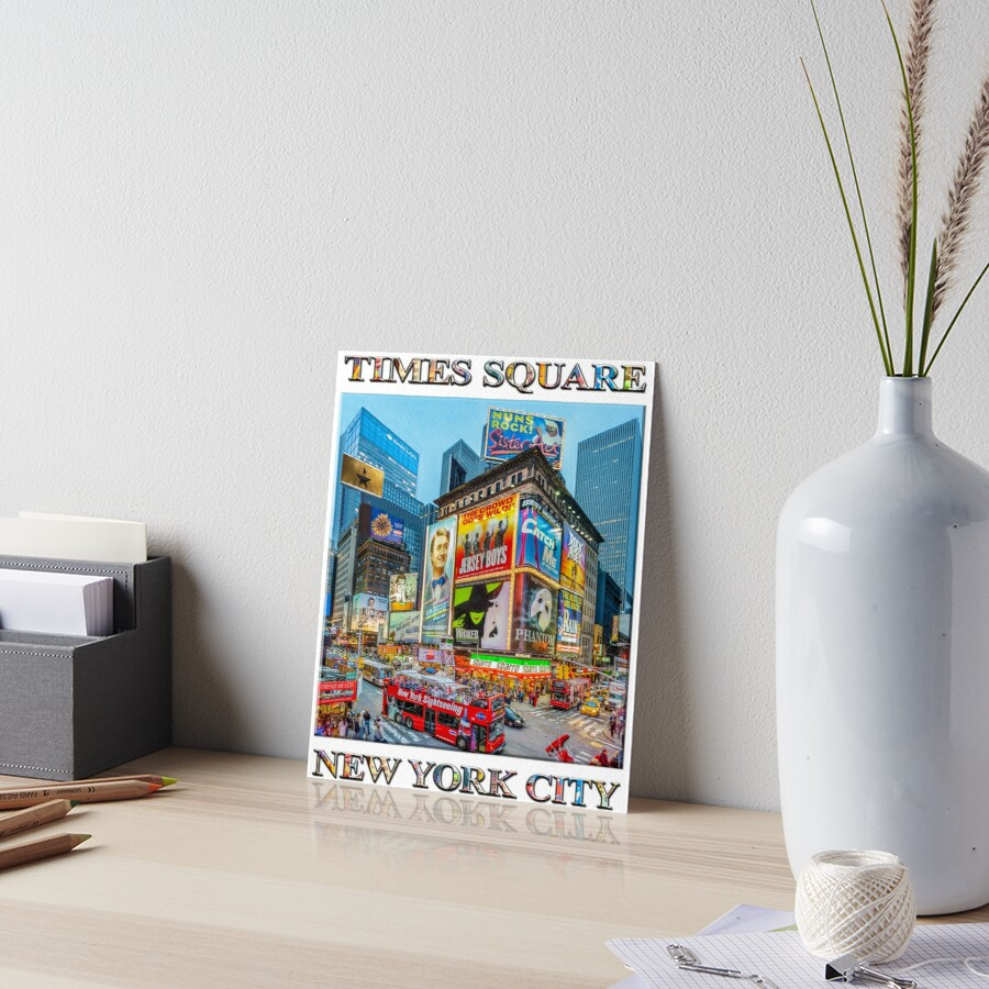 Times Square III Special Finale Edition poster Art Board Print