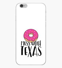 Donut Mess with Texas iPhone Case