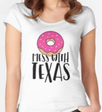 Donut Mess with Texas Women's Fitted Scoop T-Shirt