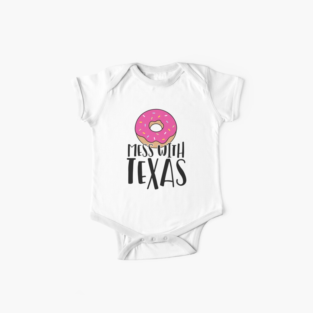 Donut Mess with Texas Baby One-Pieces
