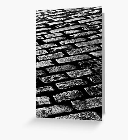 Cobbled Together - Covent Garden - London Greeting Card