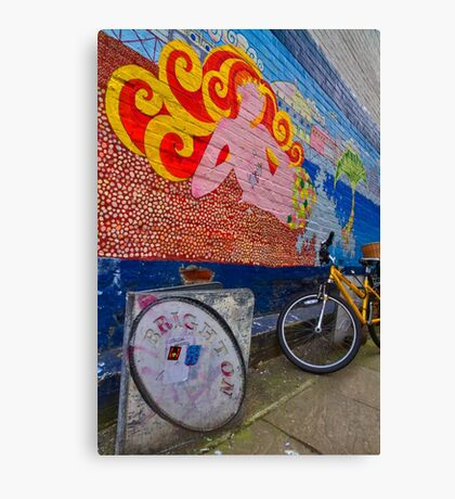 Brighton By Bike - England Canvas Print