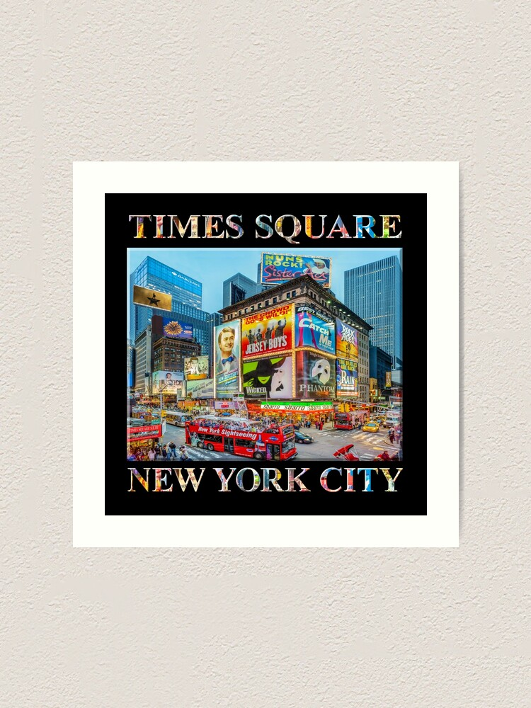 Alternate view of Times Square III Special Finale Edition (with type on black) Art Print