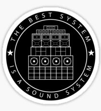 Sound System Sticker Sticker