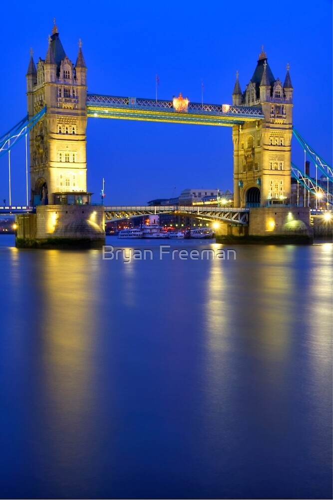 Tower Bridge at Night - London by Bryan Freeman