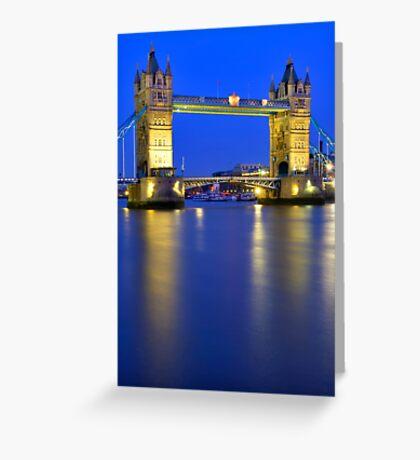 Tower Bridge at Night - London Greeting Card