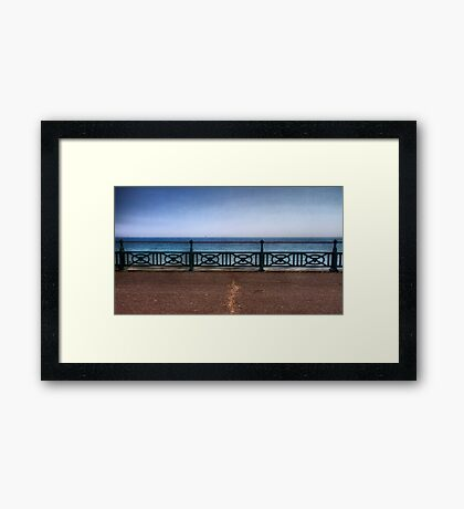 Brighton Sea Front - England Framed Print