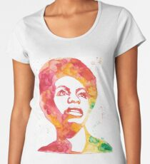 Nina Simone in Red and Orange Women's Premium T-Shirt
