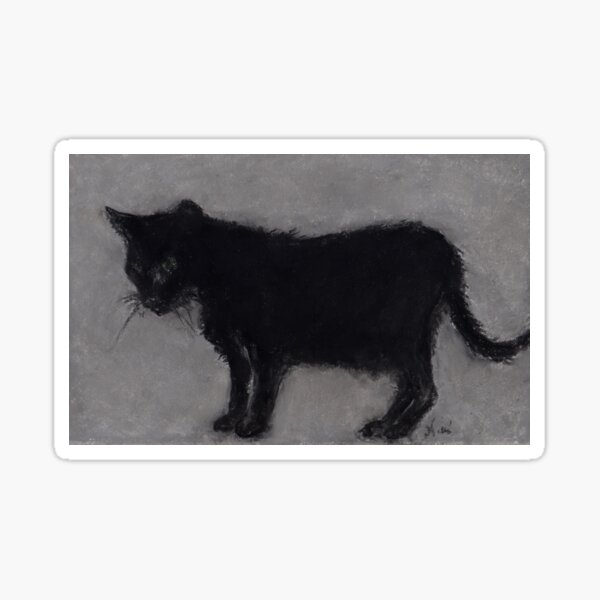 The Old Black Cat (pastel) Sticker