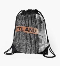 Boundary Line Drawstring Bag